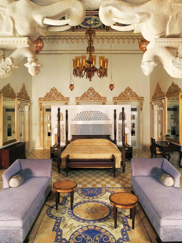 Quartos luxuosos pelo mundo e um palácio na Índia