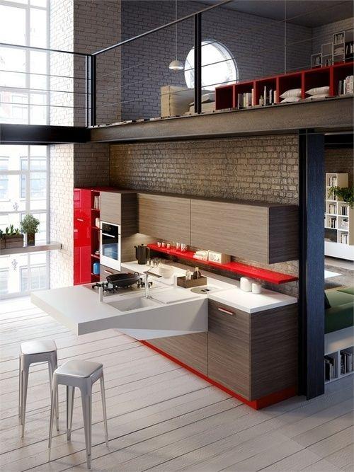 Uma cozinha moderna é perfeita para um ambiente mais descolado