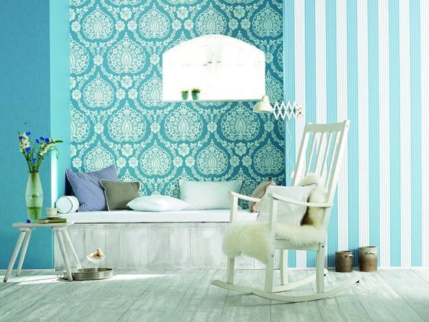 Usando verde e azul na decoração