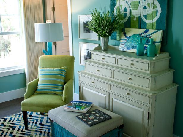 Verde e azul para encher um quarto de alegria