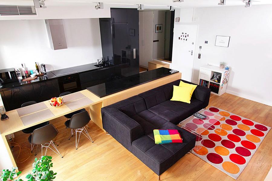 Apartamento colorido direto de Varsóvia