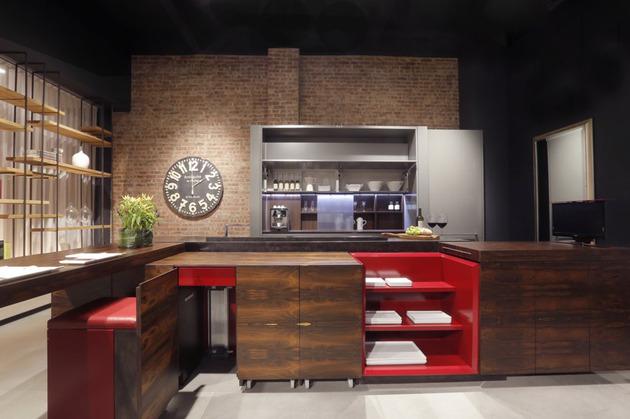 O mais incrível é a modernidade desta linda cozinha