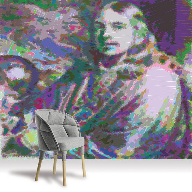 Papel de parede digital que respira arte
