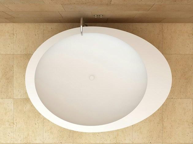 Incrivel Banheira Oval de Ceramica
