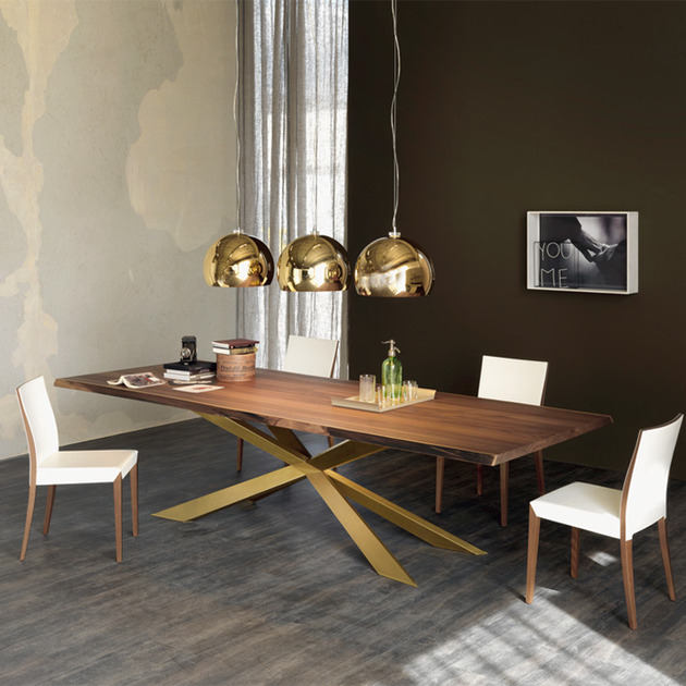 Cattelan Dining Table Wood And Glass