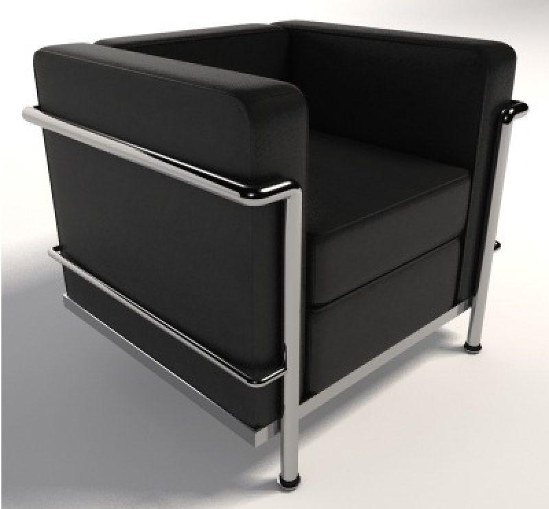 Fábrica de Poltronas LC2 Le Corbusier Aço Inox