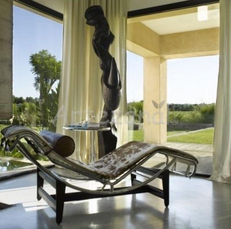 f brica de chaise le corbusier lc4 cromada do designer le corbusier. Black Bedroom Furniture Sets. Home Design Ideas