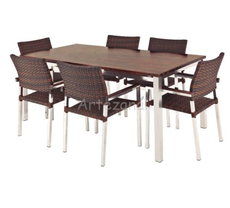 mesa gourmet em a o inox para varandas e areas externas 180x90x76cm. Black Bedroom Furniture Sets. Home Design Ideas